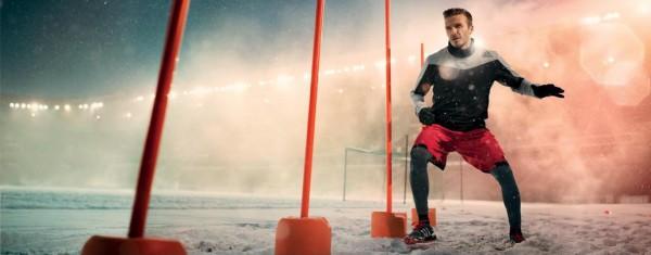 Дэвид Бекхэм в рекламной кампании одежды для тренировок adidas Climawarm+