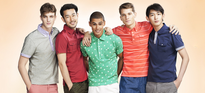 Рубашки-поло ярких расцветок, Uniqlo x Michael Bastian