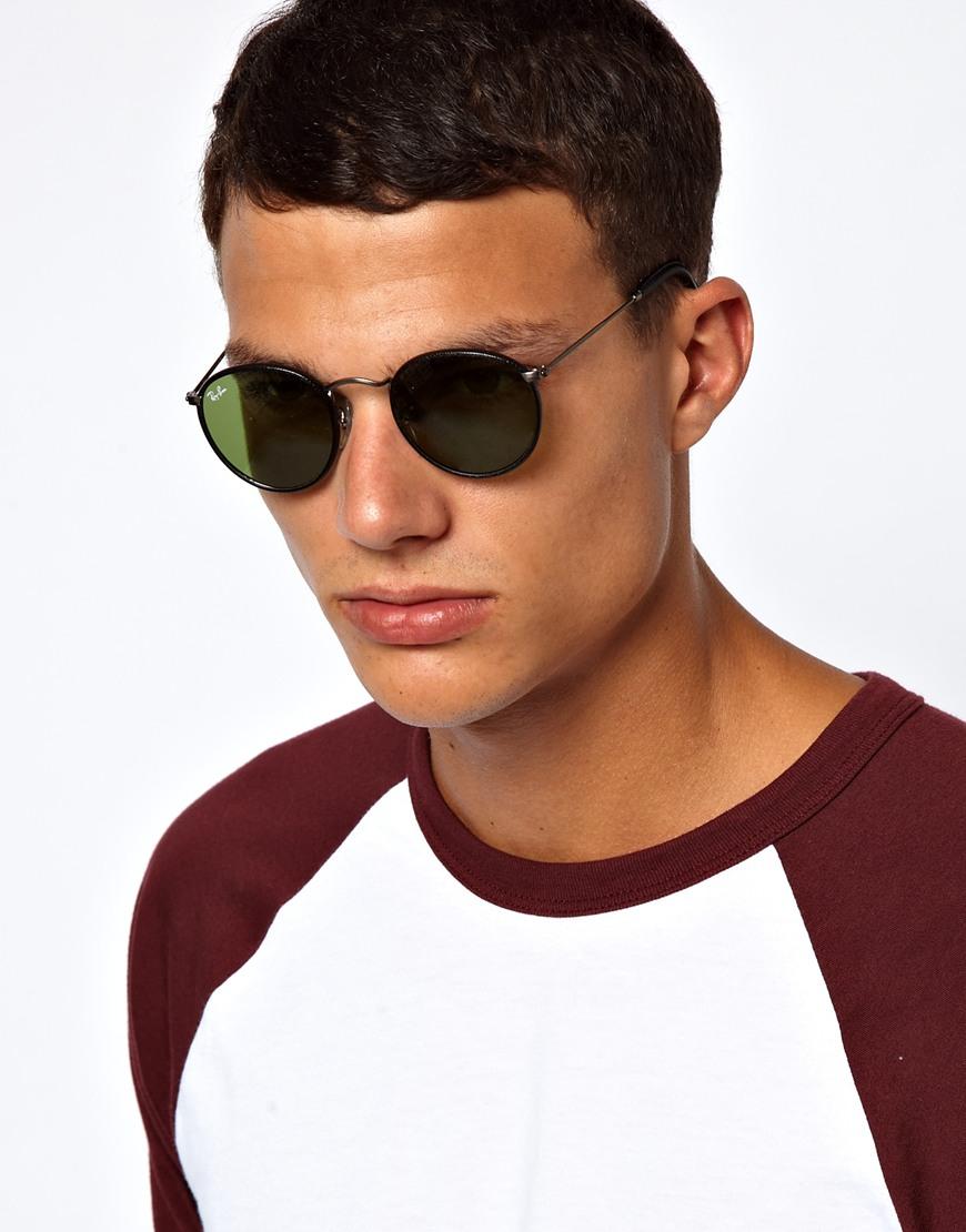 Мужчина в круглых солнцезащитных очках, Ray Ban