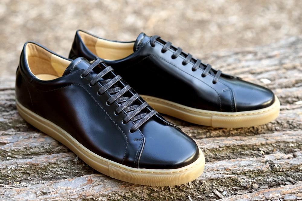Кэжуальные кроссовки Epaulet Shell Cordovan черного цвета Black