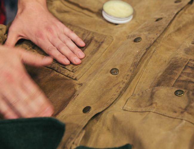 Пропитка куртки парафиновым воском