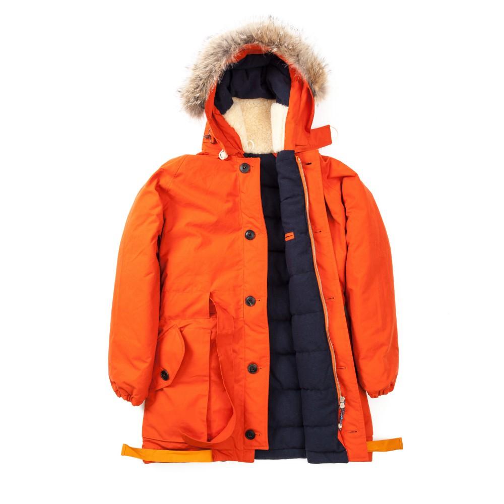 Зимняя мужская парка Nigel Cabourn Antarctic Parka Orange