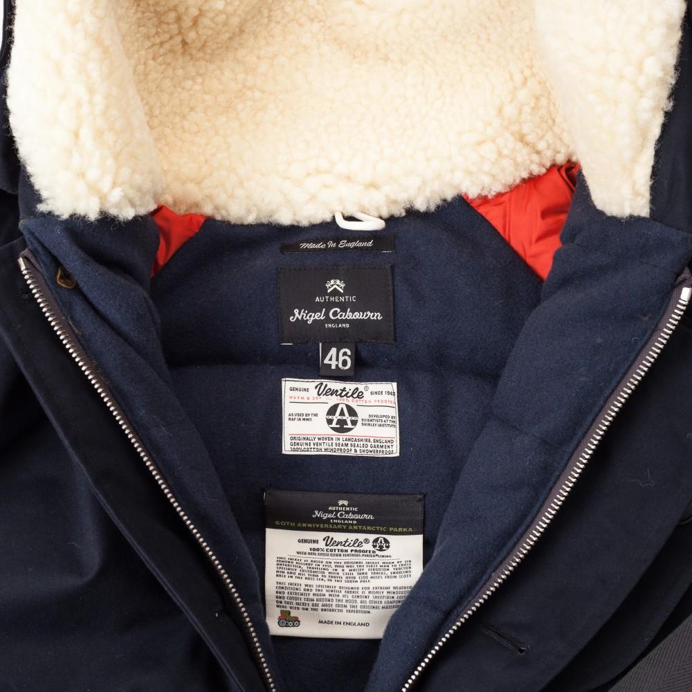 Мужской пуховик Nigel Cabourn Antarctic Parka из хлопка Ventile